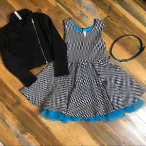 Polka Dots, Lace and Tulle Dress Set